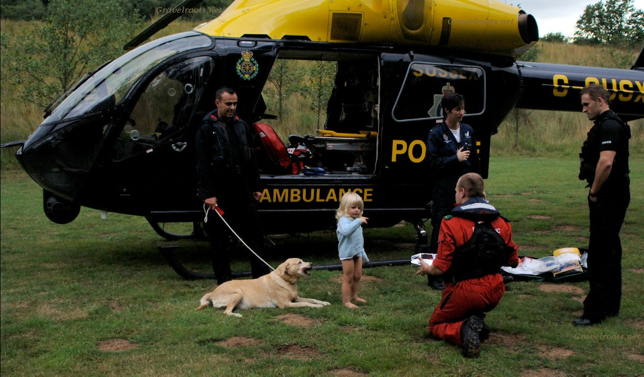 Police helicopter finds missing 3 year old  click image to return