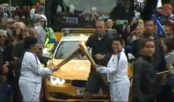 The Olympic torch passes through Chichester