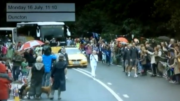 The Olympic torch passes through Duncton
