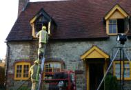 Cottage fire, Easebourne click for full image