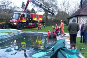 Horse rescued from Heyshott swimming pool
