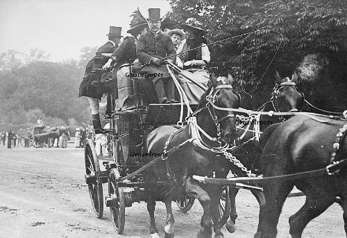 Lord Leconfield driving the Old Times, 1911