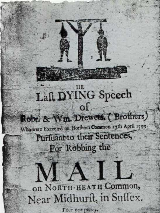 execution of 2 brothers, dying speech