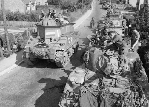 Tanks on Station Road, Petworth