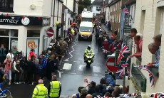 The Olympic torch passes through Petworth