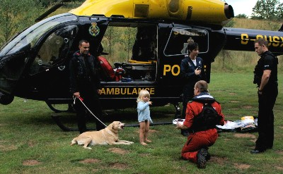 Missing 3 year old found by police  helicopter