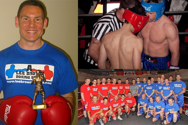 15 police officers went head-to-head in the boxing ring with 15 firefighters to raise £12,000 for the Heyshott-based charity Canine Partners.