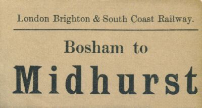 Bosham to Midhurst Parcels Ticket - c.1902-04