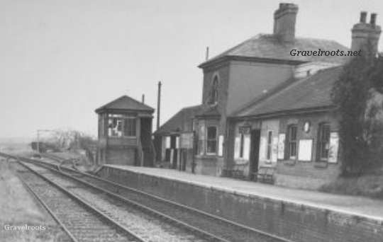 old photo of Rogate and Harting Station looking towards Petersfield click image to enlarge