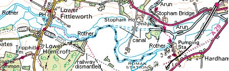 Rother & Arun map
