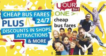Click here for cheap bus fares and discounts with the  3 in 1 card for anyone aged between 5 and 19 in full time education in West Sussex.