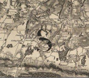 map of Heyshott area c1805-13