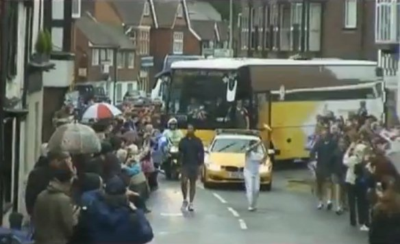 The Olympic torch passes through Midhurst
