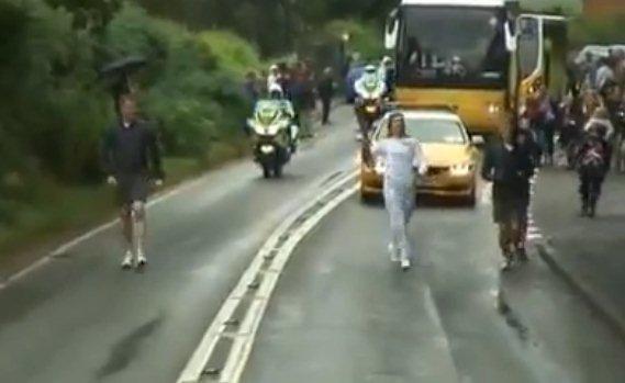 The Olympic torch passes through Tillington