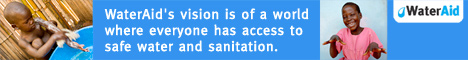 WaterAids vision is of a world where everyone has access to safe water and sanitation